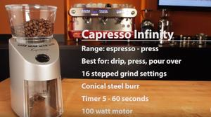 Grinding Coffee at Home Capresso Infinity