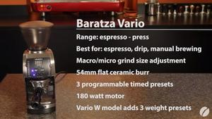 Grinding Coffee At home Baratza Vario