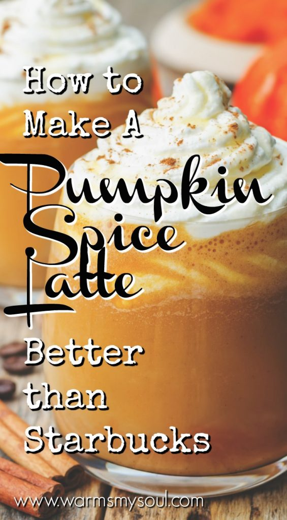 How to make a pumpkin spice latte better than starbucks pinterest pin