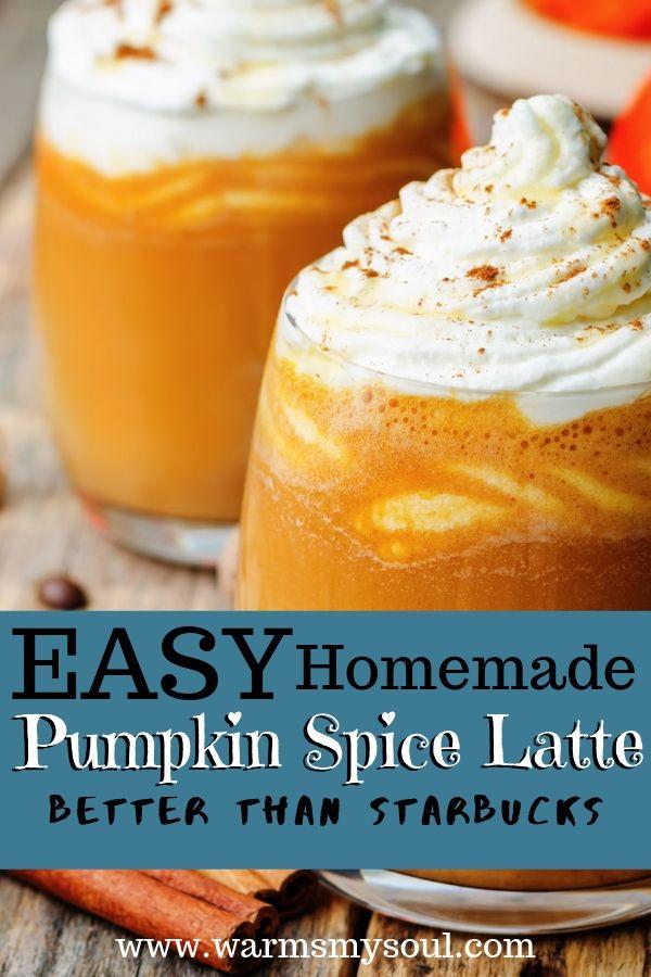 Homemade DIY Pumpkin Spice Latte
