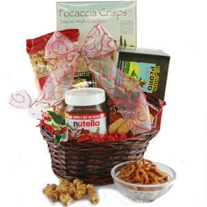 Coffee gift basket ideas- picture of coffee lover's gift basket