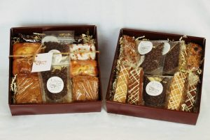coffee lovers gift basked with baked goods