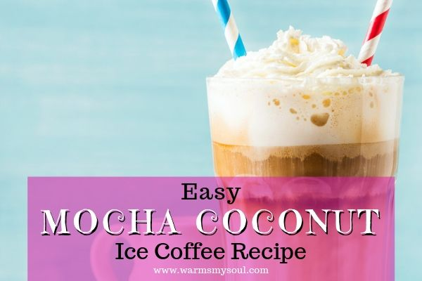 Easy mocha coconut iced coffee recipe that's oh so refreshing. This cold brew iced coffee recipe is perfect for hot summer days. Is coconut milk nice in iced coffee? You betcha! It adds a delicious and subtle flavor.