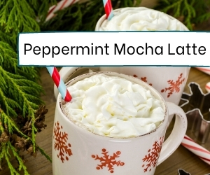 how to make a peppermint mocha latte