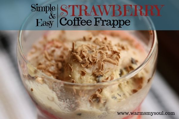 Try this easy and simple strawberry coffee frappe recipe. With a few basic ingredients, this homemade strawberry frappe recipe made with icecream will be a crowdpleaser.  Try it today!