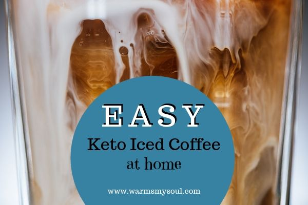 Can I have iced coffee on keto? Easy at home iced coffee recipe.