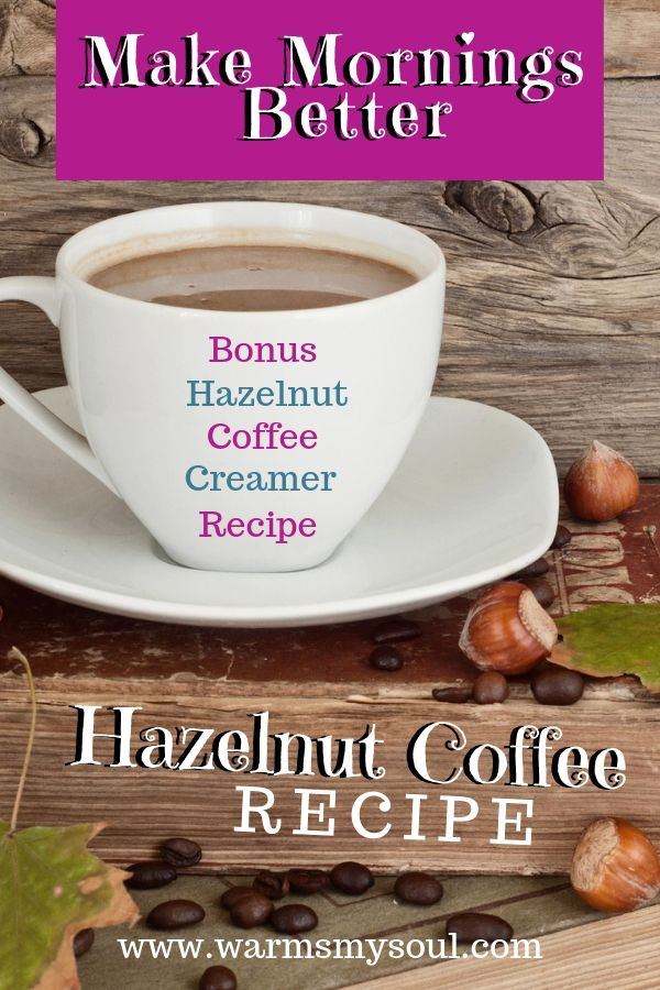 How do you make hazelnut flavored coffee?