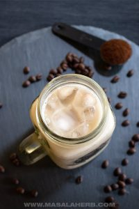 Vanilla iced coffee recipe for hot summer days.