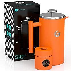 Orange french press - best coffee makers under 50