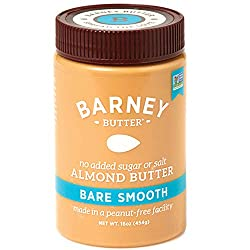 image of almond butter container. Alternative to using peanut butter.